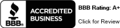 BBB: Accredited Business - Rating A+