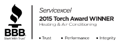 BBB: Servicexcel 2015 Torch Award Winner - Heating & Air Conditioning
