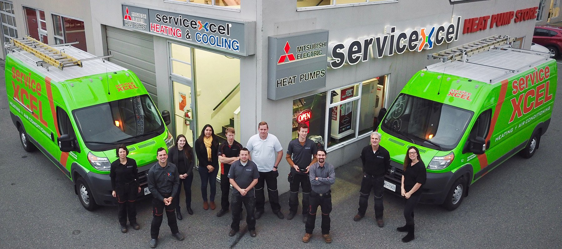 ServiceXcel family: Heating and air conditioning